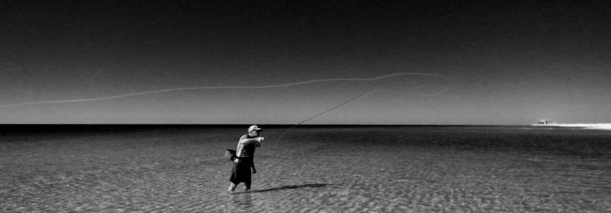 Fly fishing in the salt