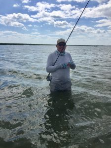 Jonas searching for Bonefish