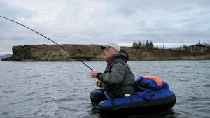 Belly boat on Lake Thingvellir