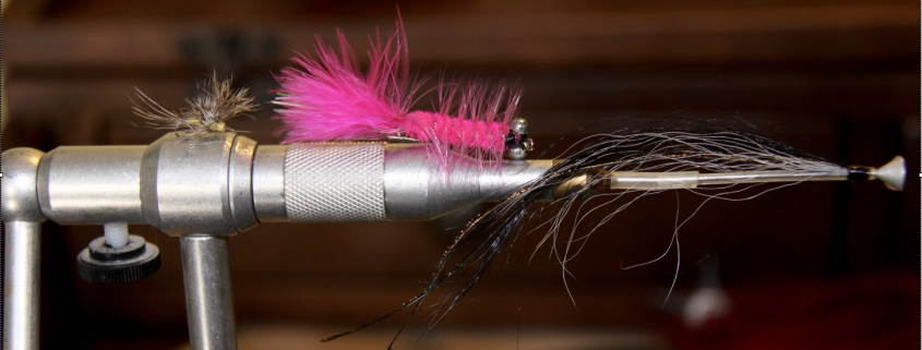Dry fly, wet fly and a tube fly