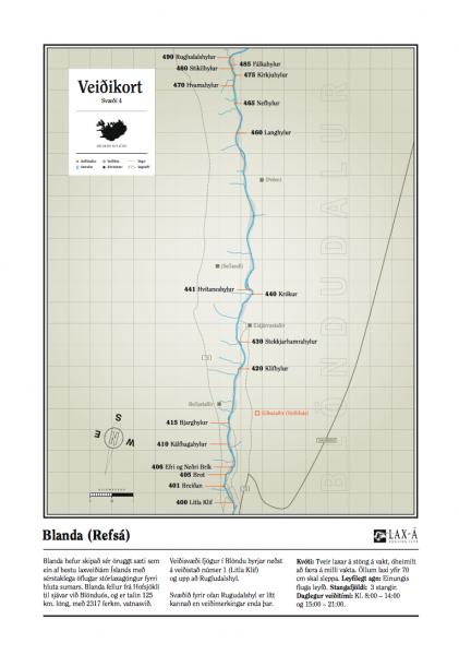 Blanda IV fishing map