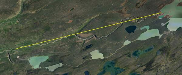 22 km from dam to start of Blanda IV