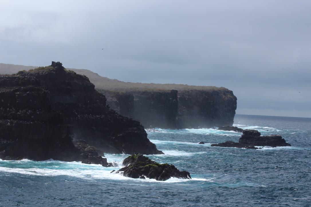 Isla Espanola's rocky shore